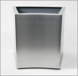 Vipera stainless steel planter