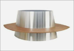 Galileo stainless steel planter and seat