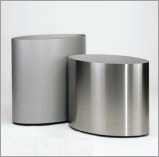 Big Oval stainless steel planter