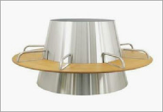 Saturnus stainless steel planter and seat