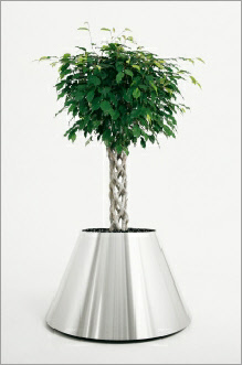 Apollo stainless steel planter